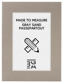 Passepartout Sandgrå (Hvid kerne) - Bestilt efter mål