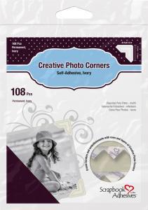 3L Creative Photo Corners Hvid - 108 stk