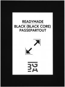 Passepartout Sort (Sort kerne) 13x18 cm (8x11,5)
