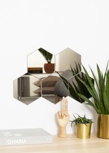 KAILA Spejl Hexagon Dark Bronze 18x21 cm - 5-pak
