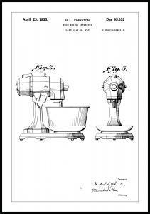 Patenttegning - Mixer II Plakat