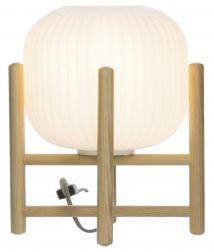Bordlampe Vinda Lille - Træ/Hvid