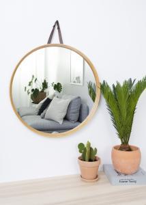 Spejl Bambus 60 cm Ø