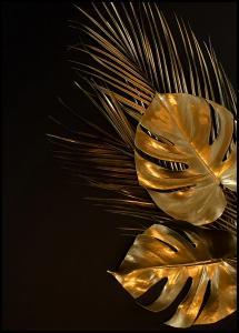 Golden Monstera Plakat