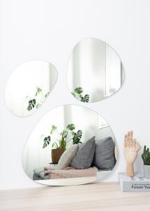 Spejl Set Clear - 3 st