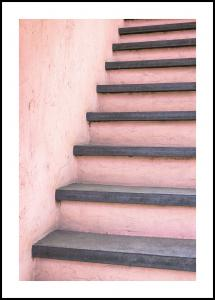 Pink stairs Plakat