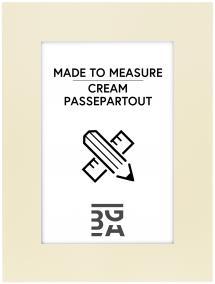 Passepartout Creme (Hvid kerne) - Bestilt efter mål