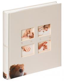Classic Bear Børnealbum Creme - 28x30,5 cm (60 Hvide sider / 30 blade)