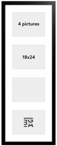 Black Wood Collageramme - 4 Billeder (18x24 cm)
