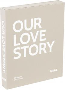 KAILA OUR LOVE STORY Grey - Coffee Table Photo Album (60 Sorte Sidere)