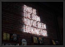 The sign Plakat