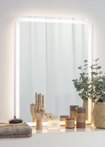 KAILA Spejl Soft Edges II LED 60x80 cm