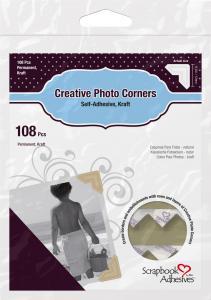 3L Creative Photo Corners Brun - 108 stk
