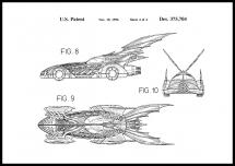 Patenttegning - Batman - Batmobile 1996 IIII Plakat