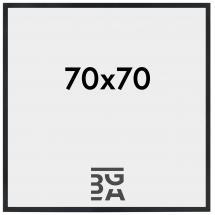 Stilren Billedramme Sort 70x70 cm