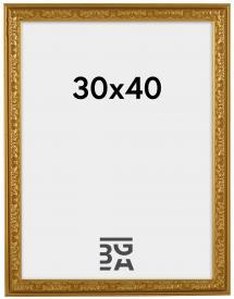 Nostalgia ramme Guld 30x40 cm