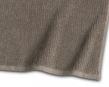 Gæstehåndklæde Stripe Frotté - Brun 30x50 cm