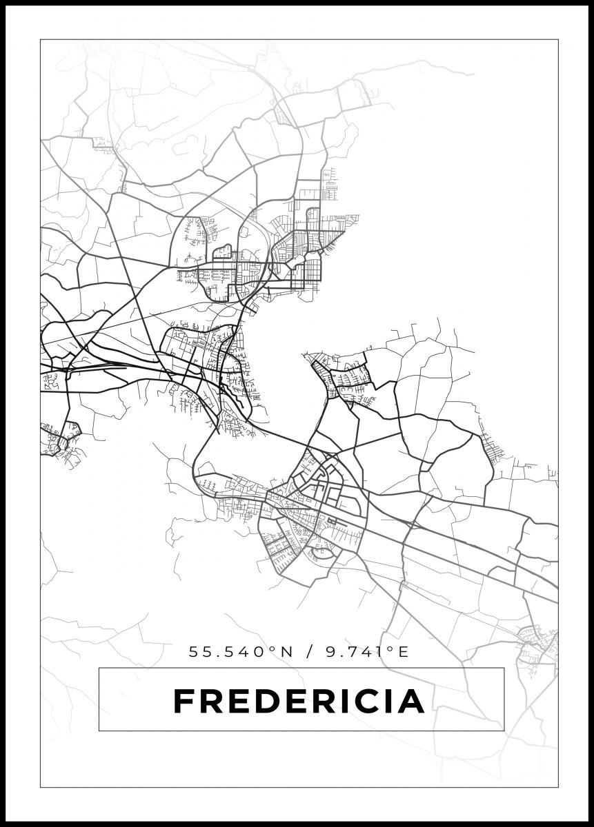 Kort Fredericia Hvid Bga Dk