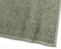 Gæstehåndklæde Stripe Frotté - Grøn 30x50 cm