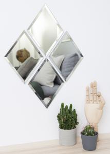 Spejl House Doctor Diamond Klar 16x22 cm