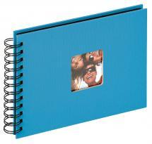 Fun Spiralalbum Havsblå - 23x17 cm (40 Sorte sider / 20 blade)