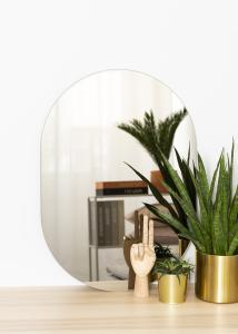 KAILA Spejl Oval Dark Bronze 50x70 cm