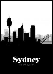 Sydney Skyline Plakat