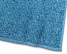 Gæstehåndklæde Stripe Frotté - Turkis 30x50 cm