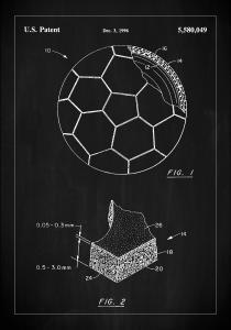 Patent Print - Football - Black Plakat