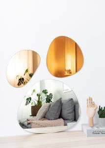Spejl Set Orange, Rose Gold & Clear - 3 st