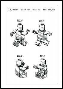 Patenttegning - Lego II Plakat