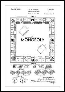 Patenttegning - Monopol I Plakat
