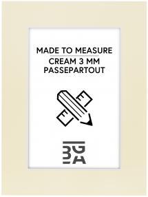 Passepartout Creme 3 mm (Hvid kerne) - Bestilt efter mål