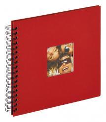 Fun Rød - 26x25 cm (40 Sorte sider)