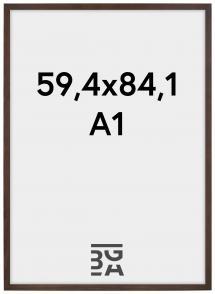 Stilren Billedramme Valnød 59,4x84,1 cm (A1)