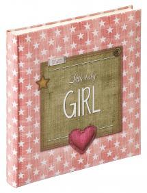 Little Babyalbum Girl Rosa - 28x30,5 cm (50 Hvide sider / 25 blade)