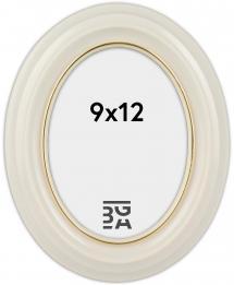 Eiri Mozart Oval Fotoramme Hvid 9x12 cm