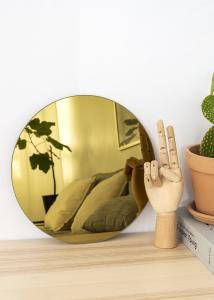 KAILA Rundt Spejl Gold 30 cm Ø