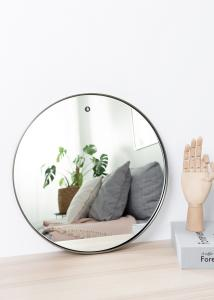 Spejl House Doctor Reflektion Sort 40 cm Ø