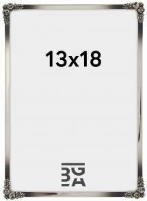 Rosen metal ramme Sølv 13x18 cm