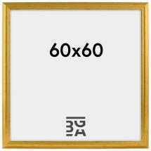 Ramme Vestkysten Guld 60x60 cm