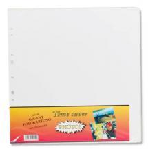 Albumblad Timesaver Gigant - 10 Hvide ark